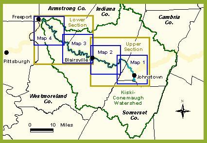 Kiski Conemaugh map